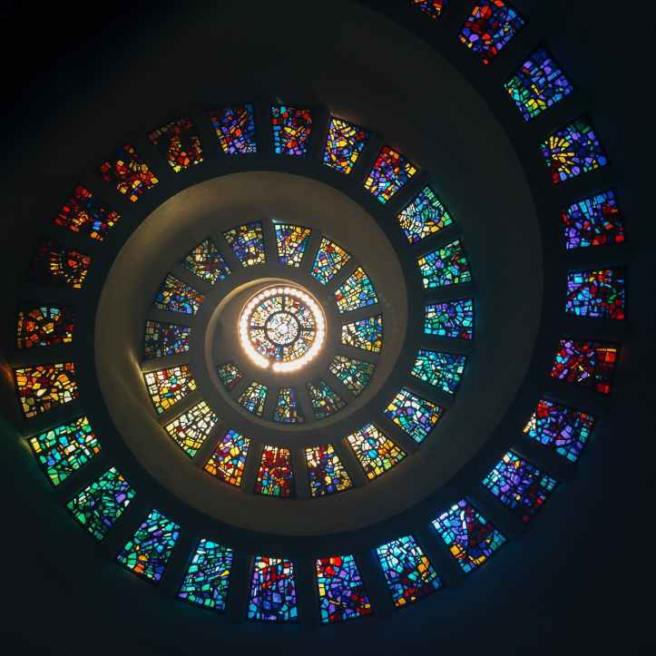 assorted color stained glass